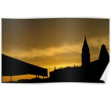 Sunset Skyline over Venice Poster