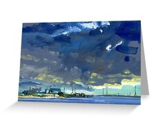Dawn Port River Greeting Card