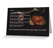 Broken Greeting Card