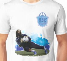 Jesus Saves. (Soccer) Unisex T-Shirt