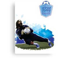 Jesus Saves. (Soccer) Canvas Print