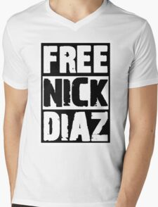 Free Nick Diaz Mens V-Neck T-Shirt