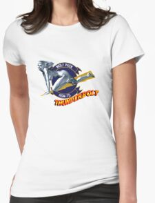 Thunderbolt Pin Up Girl Womens Fitted T-Shirt