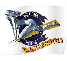 Thunderbolt Pin Up Girl Poster