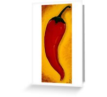 Wild Fire Red Chilli Pepper Painting Greeting Card