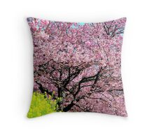 Flourishing Cherry Blossom Tree Throw Pillow