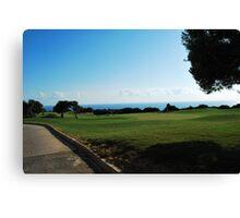 Golfing in Cyprus Canvas Print