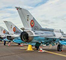 Elbit-Aerostar MiG-21 LanceR-C line-up by Colin Smedley
