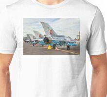 Elbit-Aerostar MiG-21 LanceR-C line-up Unisex T-Shirt