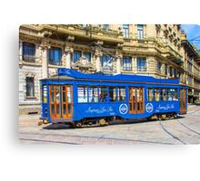 Vintage tram in Milano, ITALY Canvas Print
