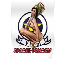 Apache Princess Pin Up Girl Poster