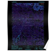 USGS Topo Map California Beaver Mountain 288283 1990 24000 Inverted Poster