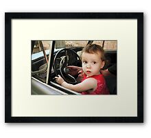 Annabelle Sure Loves to Drive - series [7] Framed Print