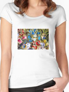 Venetian carnival masks Women's Fitted Scoop T-Shirt