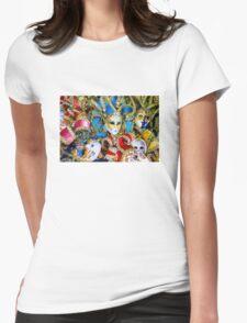 Venetian carnival masks Womens Fitted T-Shirt