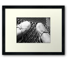 Flatline Bows  Framed Print