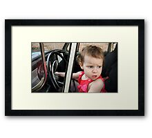 Annabelle Sure Loves to Drive - series [11] Framed Print