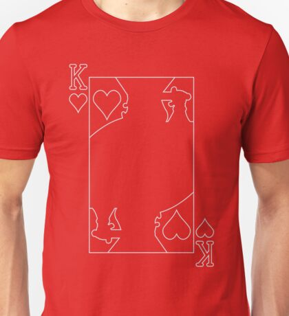King of Hearts - Outline Unisex T-Shirt