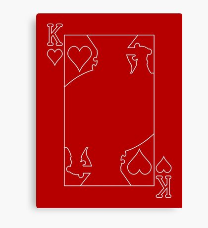 King of Hearts - Outline Canvas Print