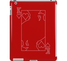 King of Hearts - Outline iPad Case/Skin