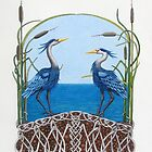 Herons Renewal by Diane Johnson-Mosley