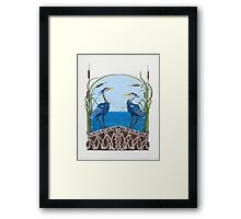 Herons Renewal Framed Print
