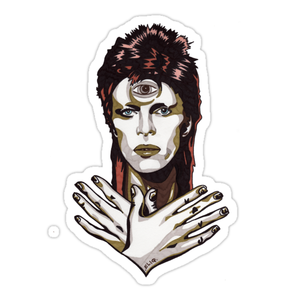 David Bowie t-shirt by Angelique Moselle Price