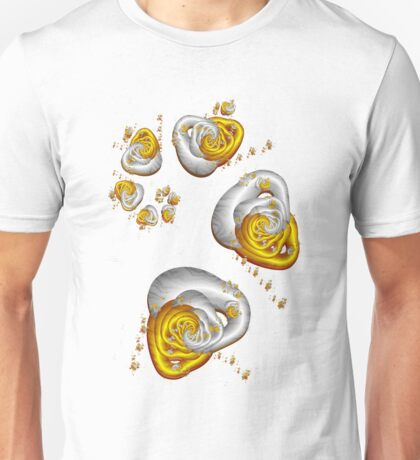 Journey to the Center - Gold and Silver Unisex T-Shirt