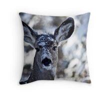 Curious Doe Throw Pillow