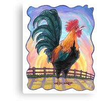 Animal Parade Rooster Canvas Print