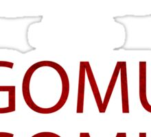 one piece keep calm and gomu gomu no anime manga shirt Sticker