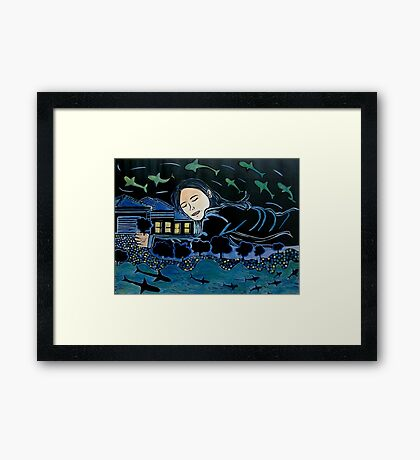After the Floods came the dreams Framed Print