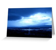 A Capital Storm! Greeting Card