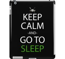 one piece keep calm and go to sleep anime manga shirt iPad Case/Skin