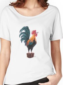 Rooster Silhouette Women's Relaxed Fit T-Shirt