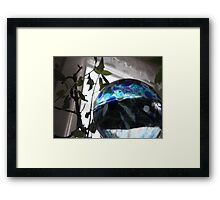Looked at the Peak through a Glass Half Full Framed Print