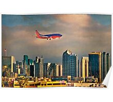 Flying Past Downtown Poster