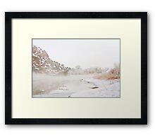 Winter River Mist Framed Print