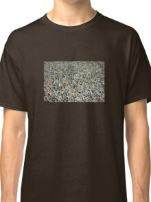 Pebbles ground pavement texture in Milano, ITALY Classic T-Shirt