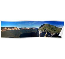 Blue Mountain Canyon Abyss Panorama Poster
