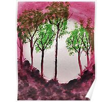 Sunrise Thru the Trees,watercolor  Poster
