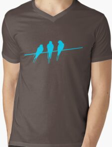 birds on a wire Mens V-Neck T-Shirt