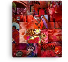 Ruby Patchwork Canvas Print