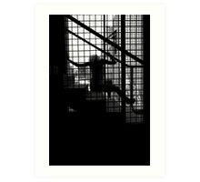 Caged Silhouette Art Print