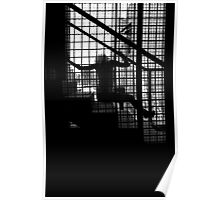 Caged Silhouette Poster