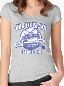 Boblo Island, Detroit MI (vintage distressed look) Women's Fitted Scoop T-Shirt