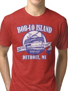 Boblo Island, Detroit MI (vintage distressed look) Tri-blend T-Shirt