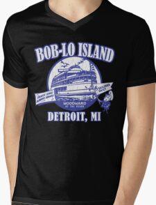 Boblo Island, Detroit MI (vintage distressed look) Mens V-Neck T-Shirt