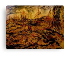 ceasing to exist.... ancient tremors, giant waves Canvas Print