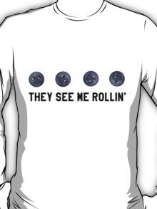 They See Me Rollin' Black Moon Emoji Trendy/Hipster/Tumblr Meme T-Shirt